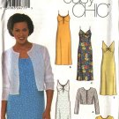 Simplicity Sewing Pattern 9621 Misses Size 6-12 Easy Summer Dress Knit Jacket Sundress