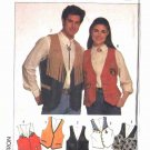 "Simplicity Sewing Pattern 9653 Misses Mens Unisex Chest Size 30-48"" Lined Vests"