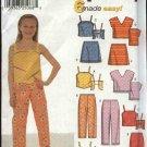 Simplicity Sewing Pattern 9780 Girls Size 7-16 Easy Summer Wardrobe Pants Skirts Tops Suntops