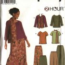 Simplicity Sewing Pattern 9827 Misses Size 8-14 Knit Pullover Tops Pull On Pants Bias Skirt
