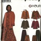 Simplicity Sewing Pattern 9839 Womans Plus Size 18W-24W Pullover Tops Pull On Long Pants Skirts