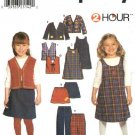 Simplicity Sewing Pattern 9854 Girls Size 2-6x Wardrobe Skirt Jumper Jacket Pants Vest