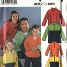 "Simplicity Sewing Pattern 9894 Misses Mens Boys Girls Chest Size 23-48"" Pullover Fleece Top"