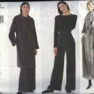 Vogue Sewing Pattern 2236 Misses Size 12-16 Calvin Klein Long Front Wrap Coat Belt Long Pants