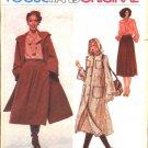 Vogue Sewing Pattern 1989 Misses Size 10 Pierre Balmain Paris Original Hooded Coat Skirt Blouse