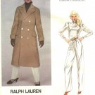 Vogue Sewing Pattern 2784 Misses Size 10 Ralph Lauren American Designer Winter Coat Pants