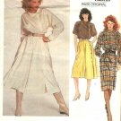 Vogue Sewing Pattern 2855 Misses Size 10 Claude Montana Paris Original Culottes Top Dress Shirt