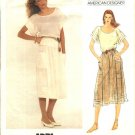 Vogue Sewing Pattern 2952 Misses Size 10 Adri American Designer Pullover Summer Top Skirt
