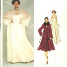 Vogue Sewing Pattern 1315 Misses Size 10 Bill Blass American Designer Evening Dress Gown Coat
