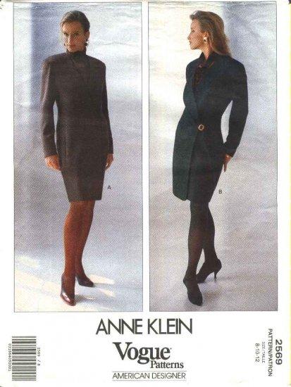 Vogue Sewing Pattern 2569 Misses Size 8-12 Anne Klein American Designer Lined Wrap Dress