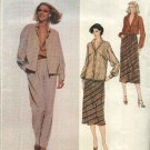 Vogue Sewing Pattern 2101 Misses Size 10 Carol Horn American Designer Jacket Skirt Pants Blouse