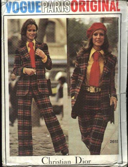 Vogue Sewing Pattern 2615 Miss Size 8 Christian Dior Paris Original Jacket Skirt Pants Shorts Shirt