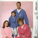 McCall's Sewing Pattern P299 4726 Misses Mens Boys Girls All Sizes Bath Robe Belt Pants Socks