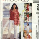 McCall's Sewing Pattern 389 Misses Size 8-14 Easy Wardrobe Jacket Vest Knit Top Capri  Pants Shorts