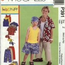 McCall's Sewing Pattern 391 Boys Sizes 7-16 Easy Wardrobe Tank Top Button Front Shirt Pants Shorts