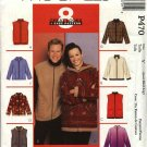 "McCall's Sewing Pattern 470 3784 Misses Mens Unisex Size 46-52""  Easy Fleece Hooded Jacket Vest"