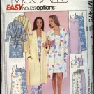 McCall's Sewing Pattern MP475 Misses Size 4-14 Easy Nightgown Bath Robe Pajamas Pants Camisole
