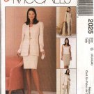 McCall's Sewing Pattern 2025 Misses Size 20-24 Easy Wardrobe Lined Jacket Top Skirt Pants
