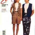 McCall's Sewing Pattern 2169 Misses Mens Unisex Chest Size 31½-40 Easy  Vest Pull On Pants Shorts