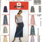 McCall's Sewing Pattern 2255 Misses Size 8-10-12 Easy Bias Pull-on Long Short Overlayed A-Line Skirt