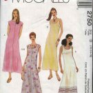 McCall's Sewing Pattern 2750 Misses  Size 12-16 Easy Sleeveless Summer Layered Slip Dress