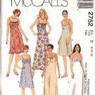 McCall's Sewing Pattern 2752 Misses Size 8-12 Basic Raised Waist Summer Short Long Dress