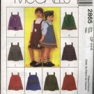 McCall's Sewing Pattern 2865 Girls Size 4-6 Pullover Jumper Pocket Trim Variations