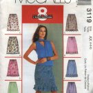 McCall's Sewing Pattern 3119 Misses Sizes 4-6-8 Easy Pull On A-Line Skirts Hem Trim Variations