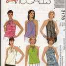 McCall's Sewing Pattern 3178 M3178 Misses Size 4-14 Easy Pullover Halter Summer Tops