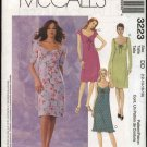 McCall's Sewing Pattern 3223 Misses Size 12-18 Sundress Ruched Bustline Short Dress