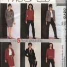 McCall's Sewing Pattern 3373 Misses Size 6-10 Easy Wardrobe Dress Shirt Jacket Top Pants Skirt