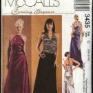 McCall's Sewing Pattern 3435 Misses Size 10-14 Formal Prom 2-piece Evening Dress Halter Top Skirt