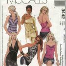 McCall's Sewing Pattern 3442 Misses Size 4-10 Knit Woven Halter Summer Tops