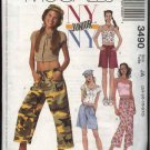 McCall's Sewing Pattern 3490 Juniors Size 3/4-9/10 Easy NYNY Wardrobe Pants Shorts Tops Hat Scarf