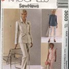McCall's Sewing Pattern 3503 Misses Size 4-10 Easy Sew News  Shirt Jacket Long Cropped Pants