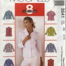 McCall's Sewing Pattern 3541 M3541 Misses Size 4-8 Easy Classic Button Front Fitted Shirts