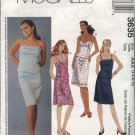 McCall's Sewing Pattern 3635 Misses Size 4-10 2-Piece Dress Fitted Top Straight Skirt