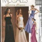McCall's Sewing Pattern 3683 Misses Size 6-12 Evening Formal Wedding 2-Piece Dress Gown Prom