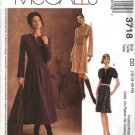McCall's Sewing Pattern 3718 Misses Size 12-18 Short Long Sleeve Topstitching Pullover Dresses