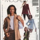 McCall's Sewing Pattern 3721 Misses Size 16-22 Easy Button Front Long Sleeve Shirt