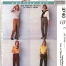 McCall's Sewing Pattern 3740 Misses Size 8-12 Palmer/Pletsch Classic Fit Long Pants Slacks