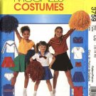 McCall's Sewing Pattern 3759 Girls Size 7-12 Costume Cheerleader Uniform Skirts Tops Panties