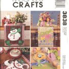 McCall's Sewing Pattern 3838 Snowman Birthday Placemats Table Runner Centerpiece Napkins