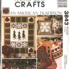 McCall's Sewing Pattern 3843 Quilting Christmas Quilt Stocking Pillow Treeskirt Wallhanging