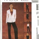 McCall's Sewing Pattern 3862 Misses Size 6-12 Lined Double Breasted Jacket Vest Pants Pantsuit