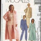 McCall's Sewing Pattern M3884 3884 Womans Plus Size 18W-24W Wardrobe Jacket Dress Top Pants Duster