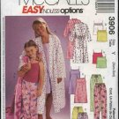 McCall's Sewing Pattern 3906 479 Girls Size 3-6 Easy Bathrobe Camisole Top Nightgown Pants Shorts