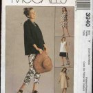 McCall's Sewing Pattern 3940 Misses Size 4-14 Maternity Wardrobe Dress Top Capri Pants Shorts