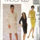 McCall's Sewing Pattern 3965 Misses Size 8-14 Button Front Tops Straight Fitted Skirts Suit