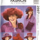 McCall's Sewing Pattern 3987 M3987 Red Hat Society Hats Purses